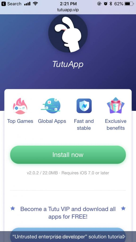 Download TutuApp Free for iOS (iPhone and iPad) - Tutu Helper 1