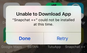Unable-to-download-app-snapchat-iphone