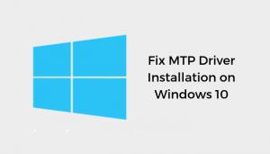 Fix Mtp Driver Installation On Windows 10