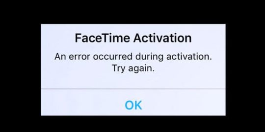 «Произошла ошибка во время активации.  Попробуй еще раз »Исправление ошибки активации Facetime!