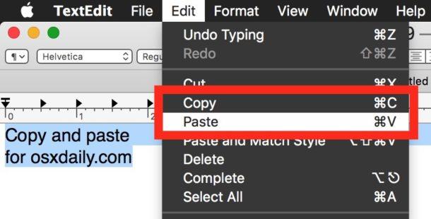 Grundlegende Anleitung zum Kopieren und Einfügen auf dem Mac (für Anfänger)