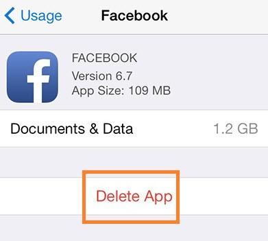 Удалите документы и данные на Iphone или Ipad, чтобы освободить место для хранения