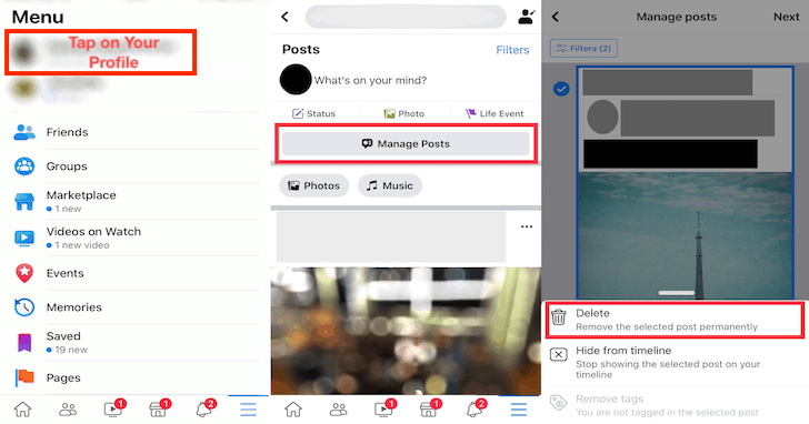 Как удалить старые сообщения в Facebook массово