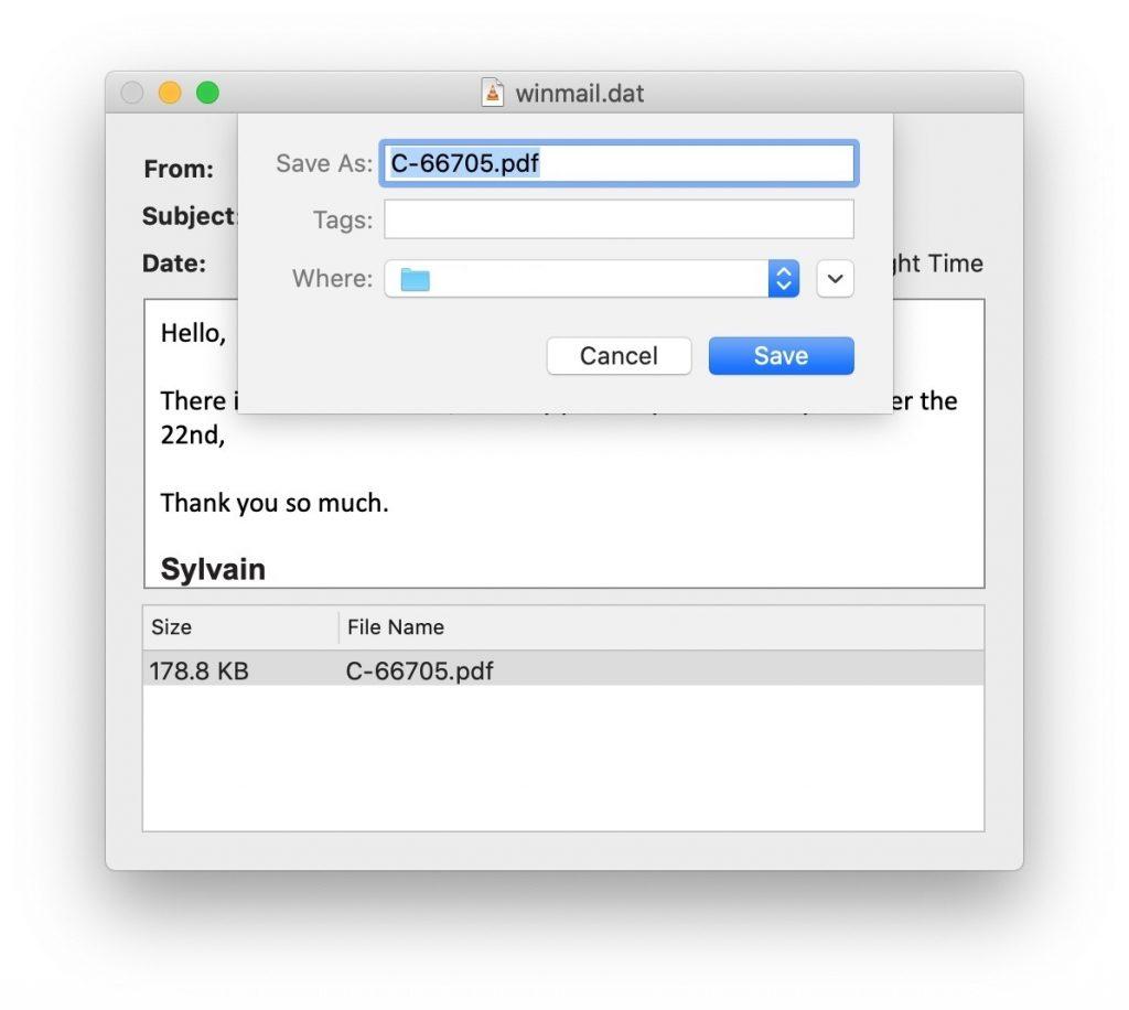 So öffnen Sie Winmail.dat-Dateien auf Mac Os X.