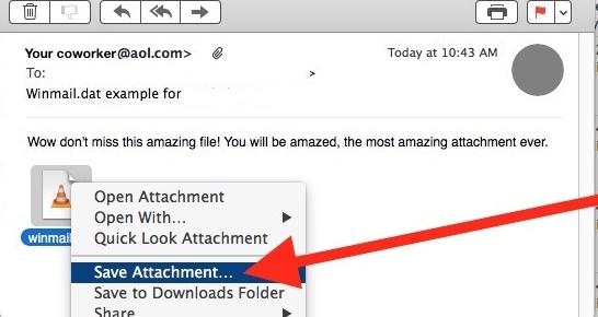 Как открыть файлы Winmail.dat на Mac Os X