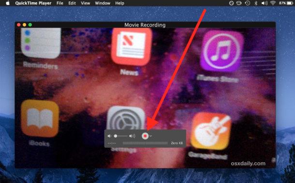 Anleitung zum Aufnehmen von Videos auf einem Mac mit einer Webcam mit Quicktime