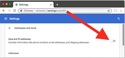 So entfernen Sie Vorschläge zum automatischen Ausfüllen von Google Chrome