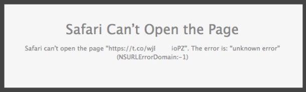 «Safari не может открыть страницу» Как исправить?