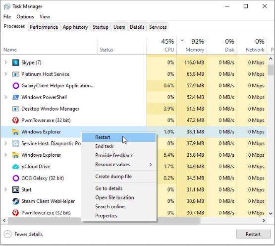 Исправить неработающую кнопку Windows