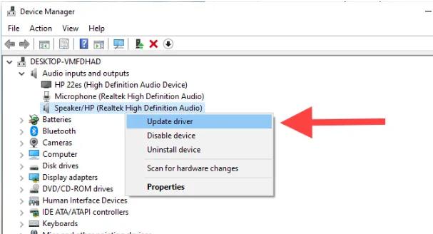 Исправить ошибку рендеринга аудио на Youtube в Windows 10
