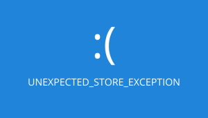 Unexpected Store Exception